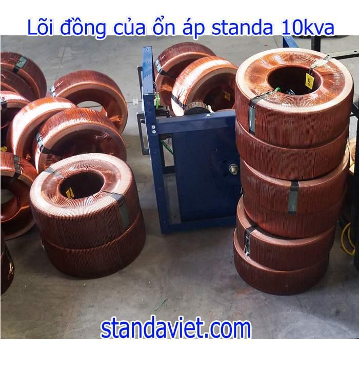 Dùng Standa 10kva dây đồng 100% chuẩn của Công ty tốn rất ít điện