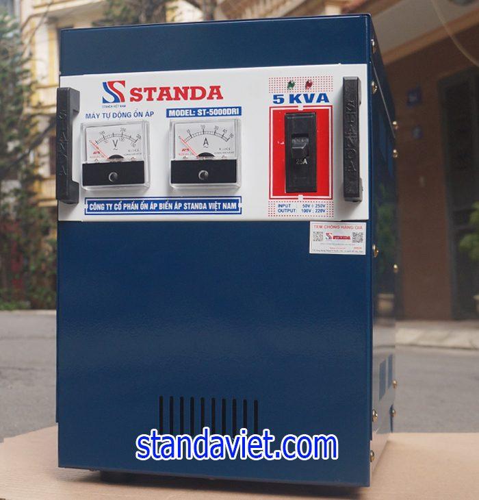 Ổn áp standa 5kva dải 50v-250v chính hãng của Công ty