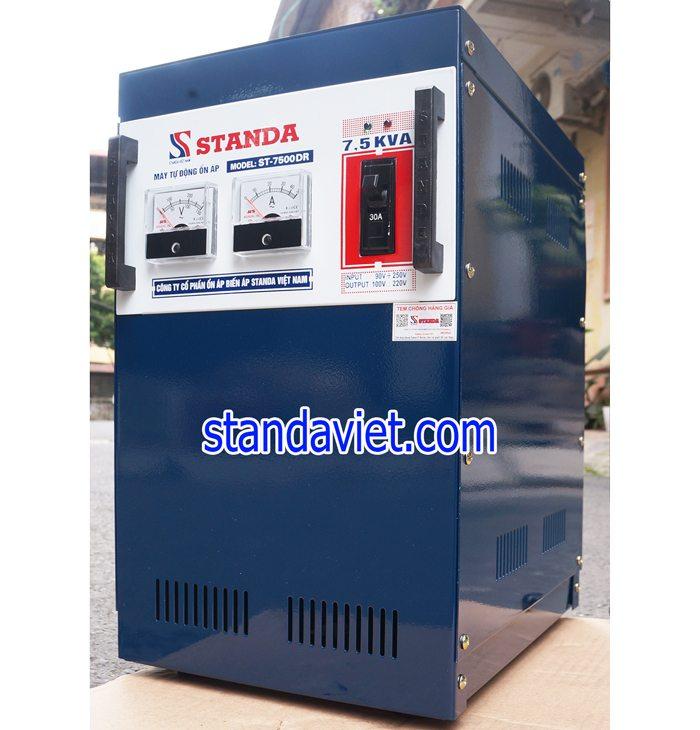 Ổn áp standa 7,5kva Model: ST-7500DR dải 90v