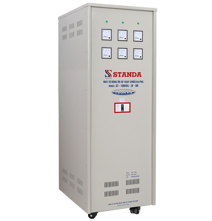Ổn áp standa 100kva dải 160v-430v: máy dây đồng bảo hành 04 năm