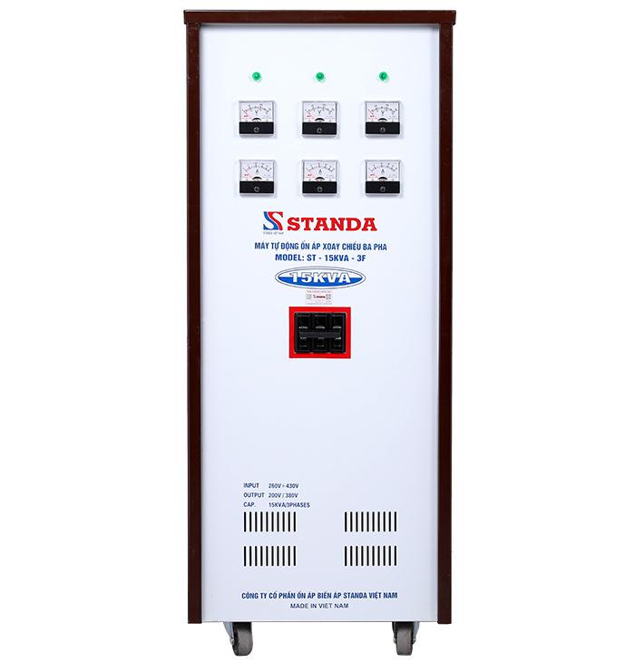 Ổn áp standa 15kva dải 260v-430v hàng chuẩn dây đồng giá tốt
