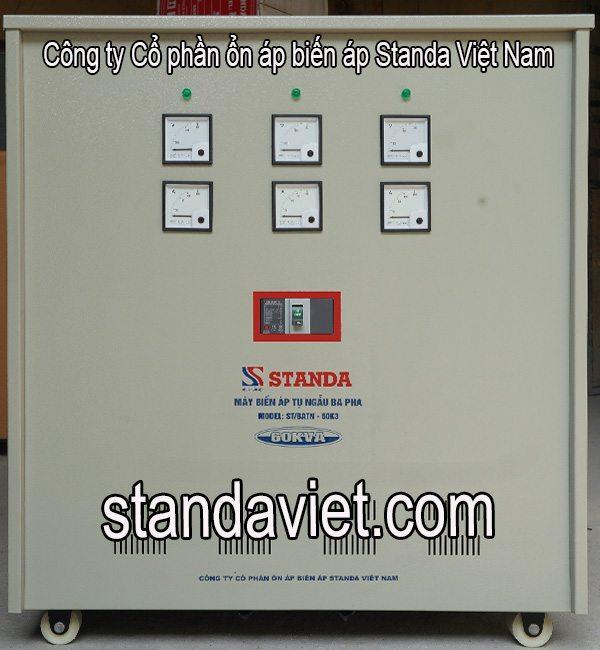 Biến áp tự ngẫu standa 3 pha 60kva chính hãng Công ty Cổ phần Ổn Áp Biến Áp Standa Việt Nam