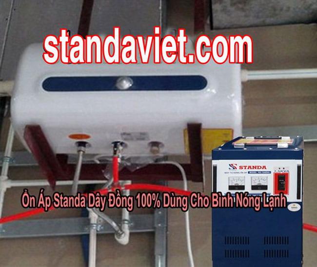 Dùng ổn áp standa cho bình nóng lạnh nếu điện quá yếu