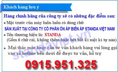 Mua ổn áp standa ở đâu: Hotline