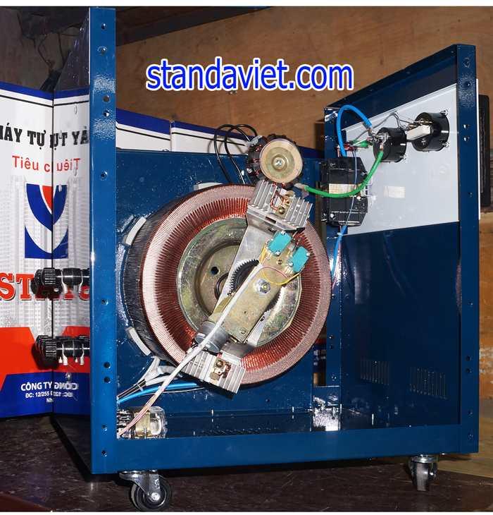 Ổn áp standa 10kva lõi quấn dây đồng 100% chạy êm đủ công suất