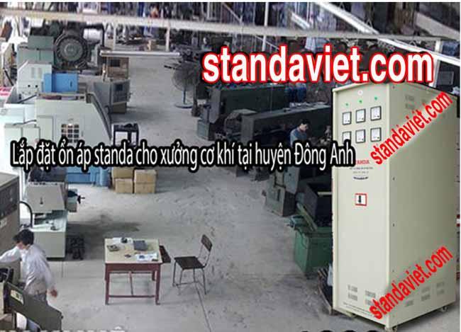 Ổn áp standa 3 pha lắp đặt nhiều trong các Công ty cơ khí
