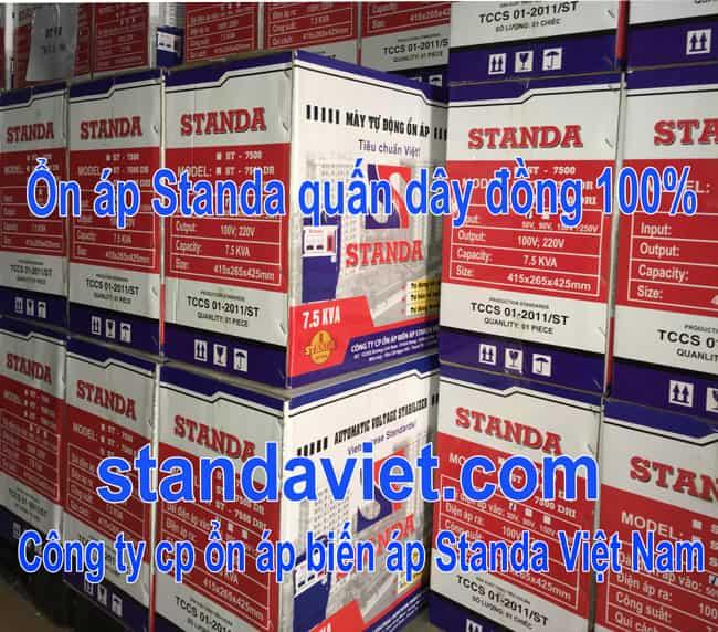 Ổn áp standa 7.5kva có tốt không? Hãy dùng hàng chính hãng Cong ty Cp ổn áp biến áp Standa Việt Nam