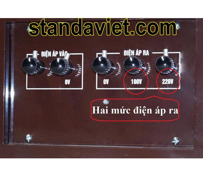 Ổn áp standa điện ra 100V và 220V phù hợp mọi máy móc tại Việt Nam