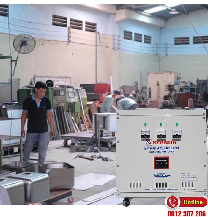 Tác dụng Biến áp Standa 25kVA: cho xưởng cơ khí
