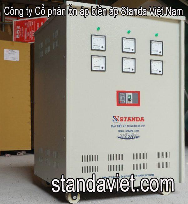 Biến áp tự ngẫu 3 pha standa 60kva chính hãng chạy êm đủ công suất