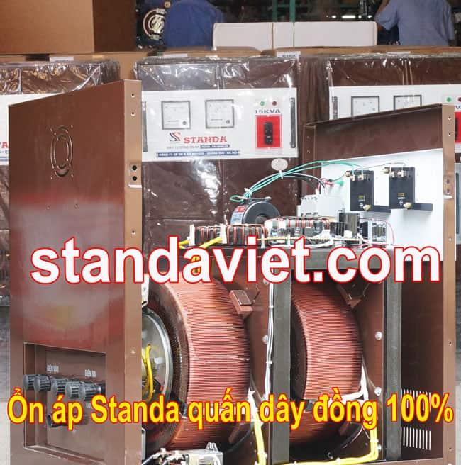 Ổn áp 2 pha lửa Standa 15kva chính hãng quấn dây đồng 100%