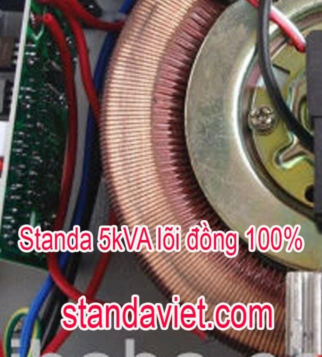 Giá Standa 5KVA lõi đồng 100% bao nhiêu