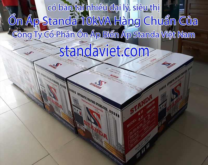 Standa 10kVA Tại Các Siêu Thị Đại Lý Hàng Chuẩn 100% Dây Đồng!