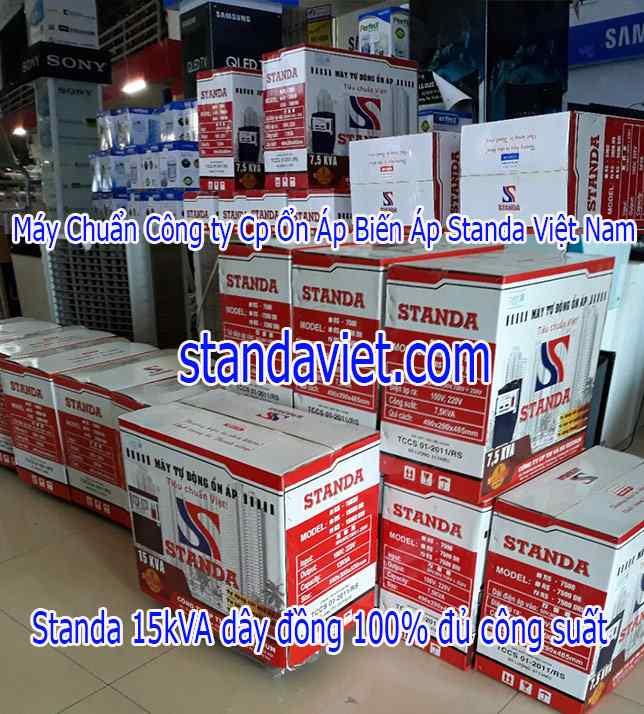 Standa 15kVA Tại Các Siêu Thị Đại Lý Hàng Chuẩn 100% Dây Đồng!