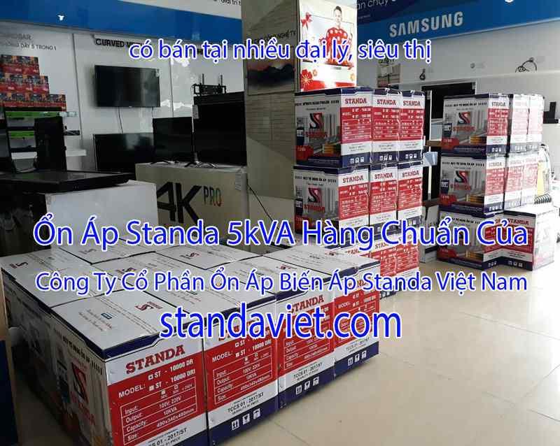 Standa 5kVA Tại Các Siêu Thị Đại Lý Hàng Chuẩn 100% Dây Đồng!