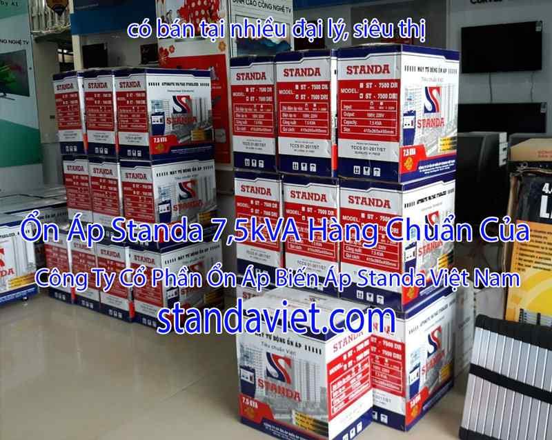 Standa 7,5kVA Tại Các Siêu Thị Đại Lý Hàng Chuẩn 100% Dây Đồng!