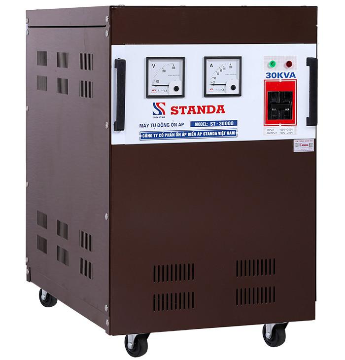 Ổn áp standa 30kva dải 150v-250v 1 pha