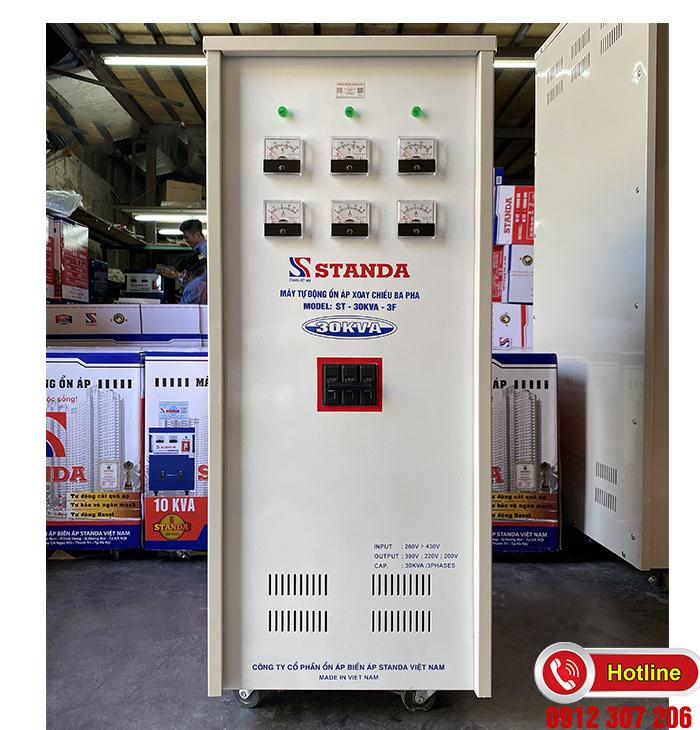 Ổn áp Standa 30kva dải 260v-430v điện ra đủ 3 đường 200v-220v-380v