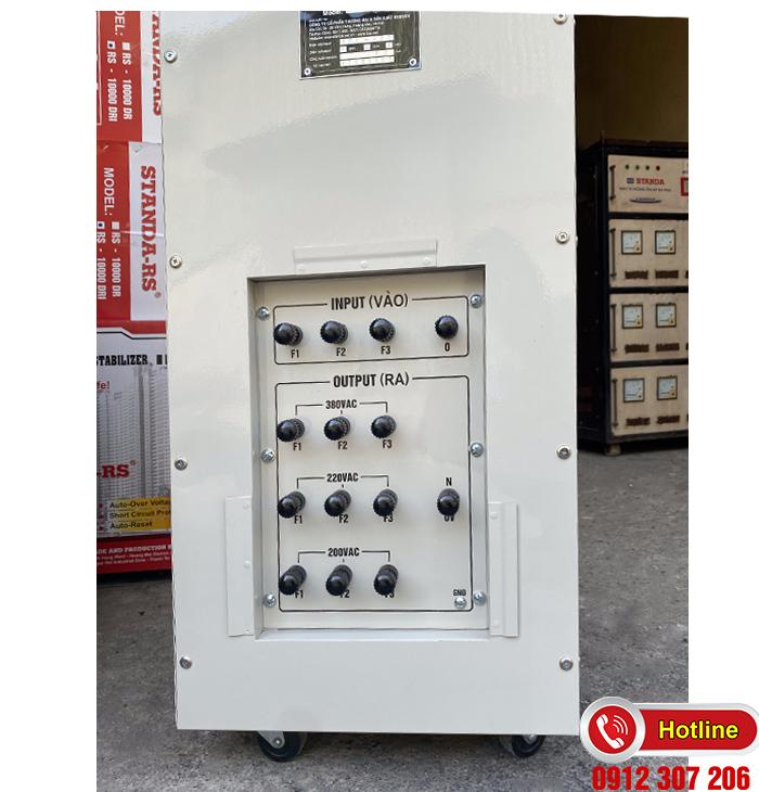 Ổn áp Standa 30kva dải 260v điện ra đủ 3 đương: 200v-220v-380v
