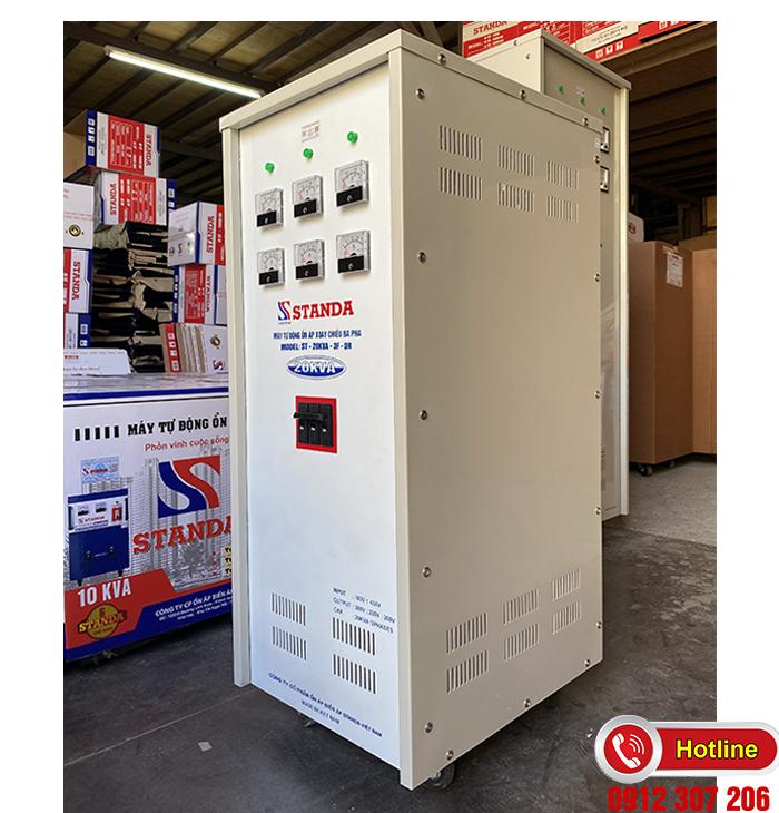 Standa 20kVA dải 160v-430v điện ra 3 đường 380v-220v-200v