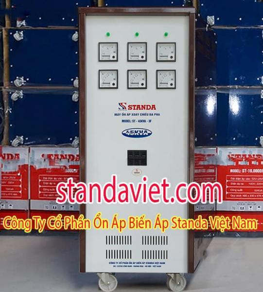Ổn áp Standa 45KVA chính hãng Công ty Cổ phần Ổn Áp Biến Áp Standa Việt Nam