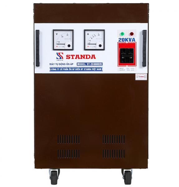Ổn áp standa 20kva dải 50v-250v 1 pha