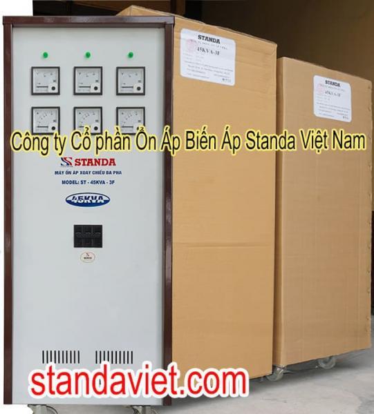 Ổn áp Standa 45KVA 3 pha chính hãng Công ty Cp Ổn Áp Biến Áp Standa Việt Nam